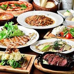 【国産和牛のサーロインステーキと地鶏の饗宴コース】3時間飲み放題付 全8品 6050円→4950円