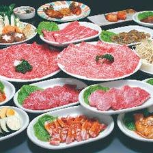 食べ放題など魅力溢れるコースを満喫