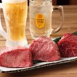 旨味満点!!塊肉・赤身肉×ビール・ハイボールは格別