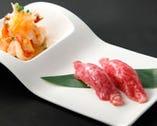 前菜に和牛焙り寿司