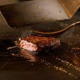 80年以上続く老舗鉄板焼きの匠の技で最適な状態に仕上がったステーキは逸品です♪