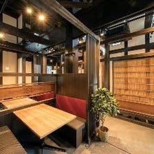 京町屋の落ち着いた空間でごゆっくり