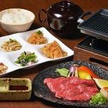 国産牛の鉄板焼き定食(おばんざいビュッフェ付)