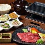 国産牛の鉄板焼き定食(おばんざい付)