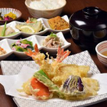 天ぷら定食(おばんざい付)
