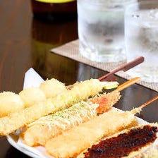 食材の鮮度にもこだわった串カツです