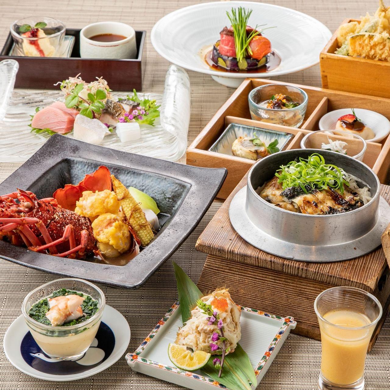 愛媛県宇和島産の鱧を中心に旬の食材をふんだんに使ったお料理。