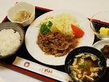 牛生姜焼ランチ