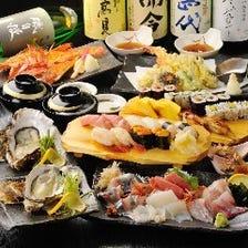 【豪華】海鮮料理・お寿司特上のプレミアムコース◆お一人様10,000円(プレミアム飲み放題付)税抜