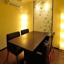 宴会・接待・会食に大小個室完備
