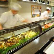 新鮮な食材と職人の技