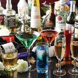 豊富な飲み放題メニュー【女性に人気のお洒落ななカクテルも多彩♪】