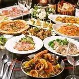 イタリアで腕を磨いたシェフが腕を振るう絶品料理【多彩な豪華パーティーコースが魅力!】