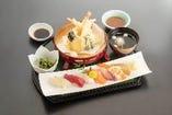 お寿司と天ぷらのセットです!
