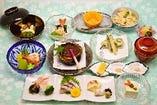 【6月〜8月までの限定メニュー】夏の旬の素材を使った本格的な会席料理をリーズナブルな価格でご提供♪