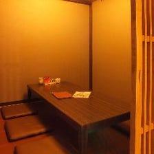 こだわりの空間、個室完備