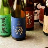 豊富な品揃えが自慢の地酒や日本酒