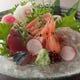 お造り盛り合わせ。旬の鮮魚をお楽しみください。
