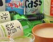 韓国ビールや生マッコリなど
