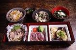 季節限定の御膳は980円とお得!お昼御飯をお楽しみ下さい。