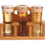 お一人様飲み放題(1100円と700円)+税で【生ビール・クラフトビール全11種類飲み放題】に!