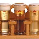 敷地内で醸造したクラフトビール4種類♪