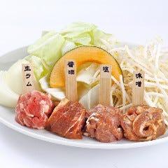 4種ジンギスカン 生ラム・特製味付けラムのジンギスカン(醤油ラム・塩ラム・味噌ラム)