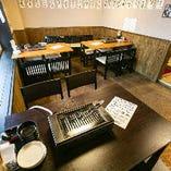 2階奥スペースは10名様から個室感覚でエリア貸切が可能