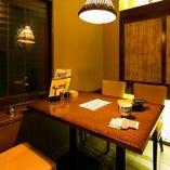ゆったりと寛げる落ち着いた雰囲気のテーブル個室