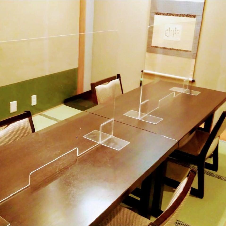 クリアパーテーション設置 15畳個室