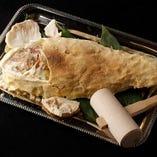 明石天然真鯛の塩釜焼き (一番美味しい大きさ目の下一尺)約1k超え