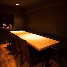 人気の完全個室で寿司を満喫