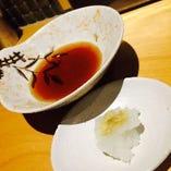 季節野菜の天ぷら(天つゆ・大根おろし)