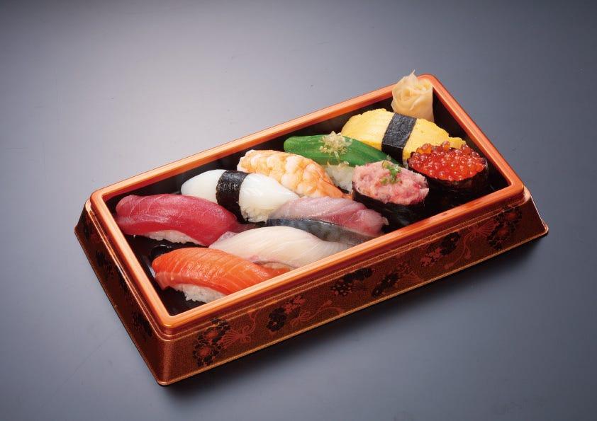 一人前10貫1200円を1000円で! 絶品寿司をご自宅どうぞ!