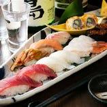 食事にも、お酒の締めにも最適!! 佐島一番寿司盛り