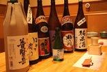 九州の地酒、限定酒、取り揃えております。