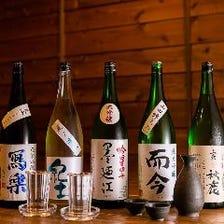 全国各地の厳選日本酒を取り揃え!