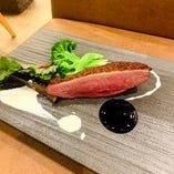 鴨胸肉と野菜のロースト