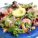 ガーリックシュリンプとアボカドのオリエンタルサラダ