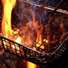 ひね鶏の炙り焼き