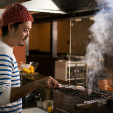 炭火でじっくり焼いたお料理の数々