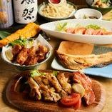 お得な宴会コースは飲み放題付3000円(税込)~ご用意。