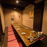 人気の宴会個室はご予約必須!最大20名様程度まで対応可能です♪
