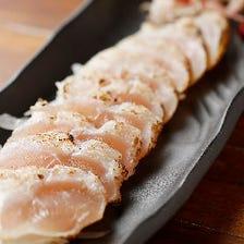 津軽地鶏 昆布〆塩たたき