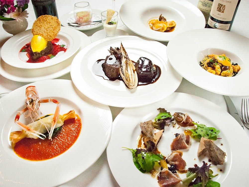 ジュリエッタコース 前菜盛り・パスタ・メイン・ドルチェ・デザートメッセージもご用意致します。