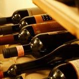 ソムリエ厳選の豊富なワイン!