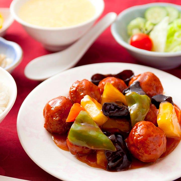 糖醋丸子(甘酢肉団子)定食
