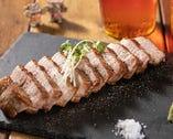 きびまる豚のレアステーキ(300g)