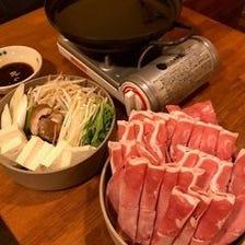 超ぜいたく3品2セット+ミニ野菜盛り+しゃぶしゃぶ鍋