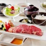 【全7品】ステーキを味わう『黒毛和牛ステーキランチ 2,800円(税抜)』